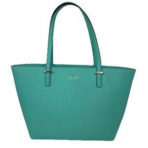 Kate Spade Leather Seafoam Green Shoulder Bag/Tote